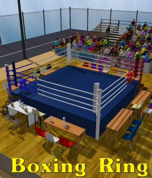 Stadium Boxing Ring - Extended License Software 3D Models greenpots