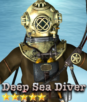 Deep Sea Diver - Extended License 3D Models 3D Figure Assets Cybertenko