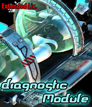 Diagnostic Module - Extended License 3D Models Gaming Cybertenko
