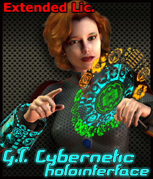 G.I. Cybernetic HoloInterface - Extended License 3D Models 3D Figure Essentials Gaming Cybertenko