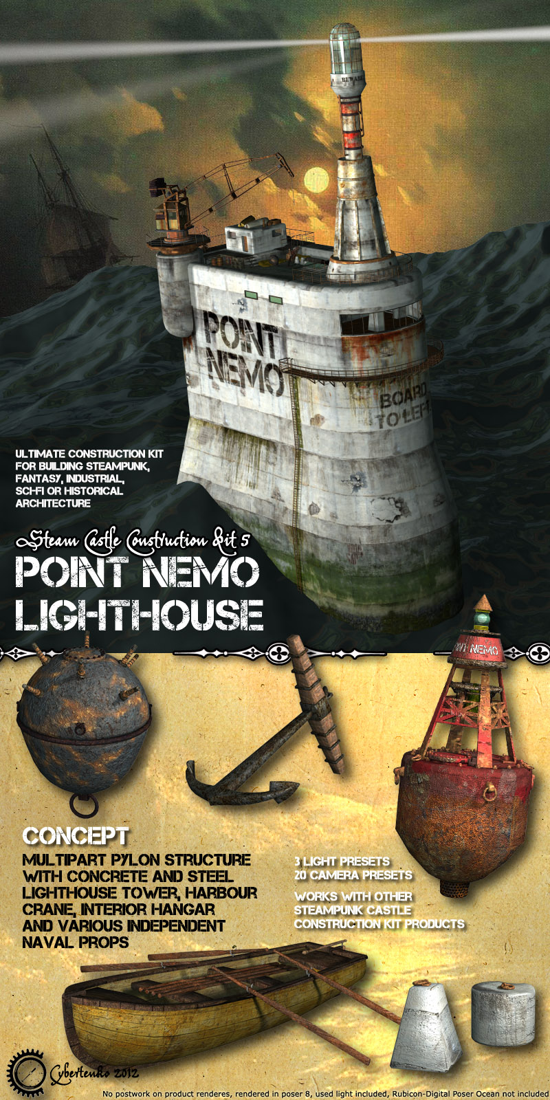 Point Nemo Lighthouse - Extended License