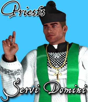 Servi Domini - Priests - Extended License 3D Figure Essentials 3D Models Cybertenko