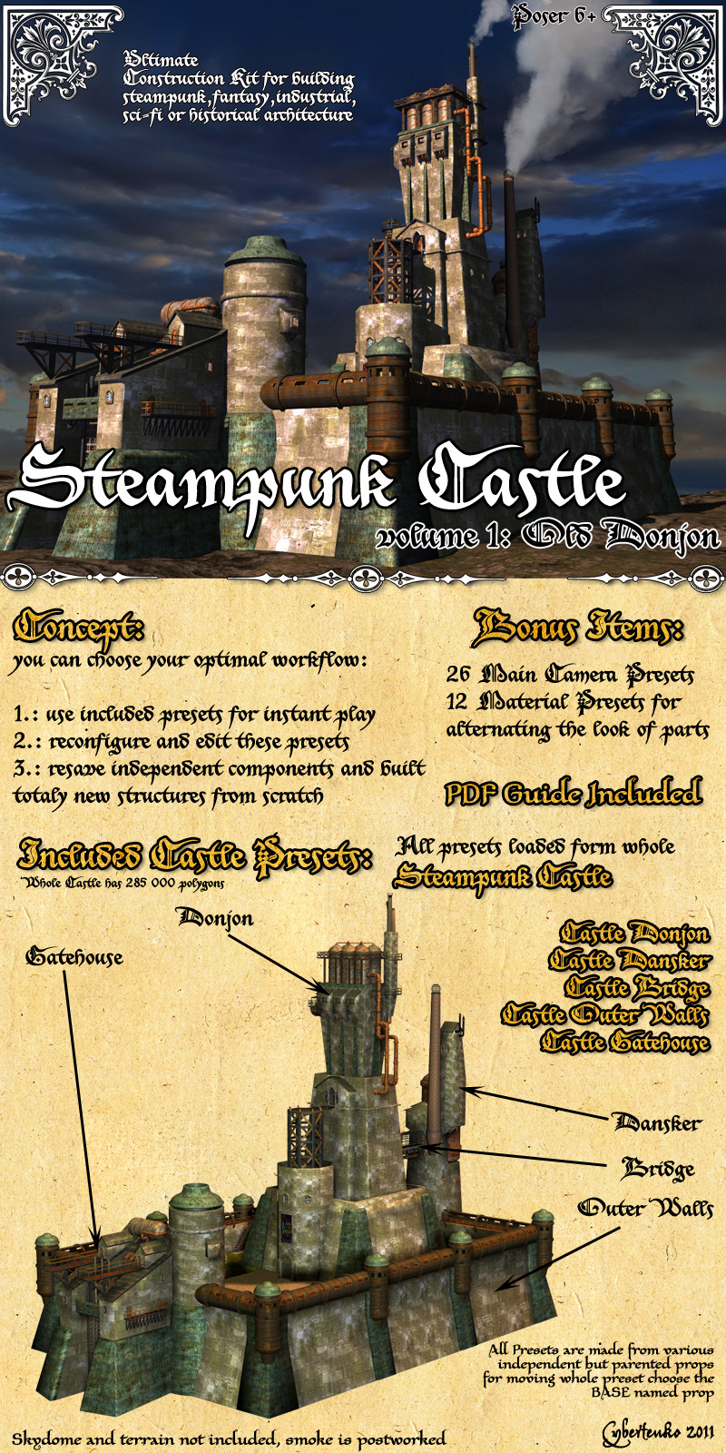 Steampunk Castle Construction Kit - Extended License