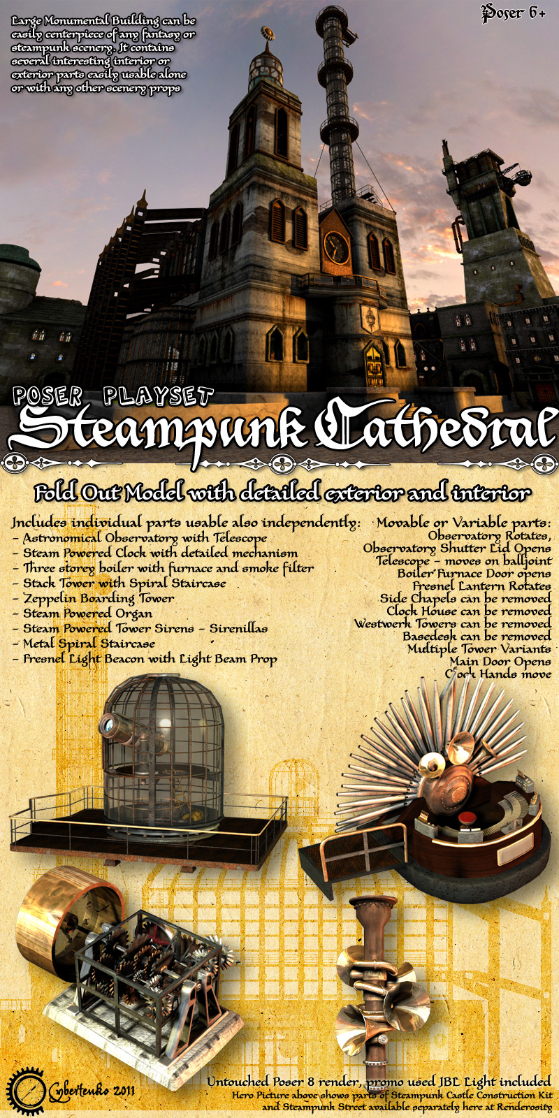 Steampunk Cathedral - Extended License