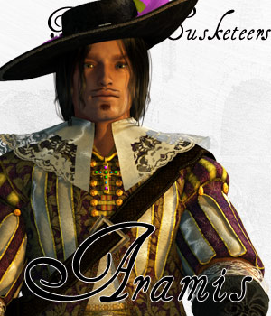 Three Musketeers - Aramis - Extended License 3D Models 3D Figure Essentials Gaming Extended Licenses Cybertenko