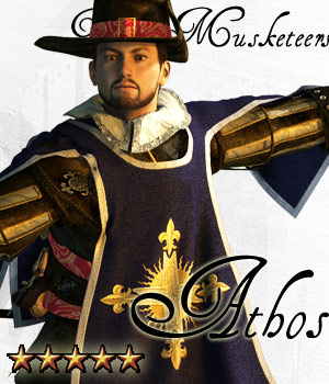 Three Musketeers - Athos - Extended License 3D Figure Essentials Gaming 3D Models Cybertenko