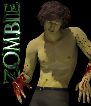 Zombie Poses for M4 3D Figure Assets TheToyman