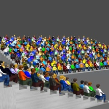 Bleacher people - Extended License image 1