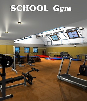School Gym - Extended License 3D Figure Assets 3D Models Extended Licenses greenpots