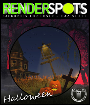 RenderSpots Halloween 2014 for Poser and DAZ Studio 2D 3D Models outoftouch