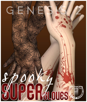 Spooky SuperGloves Infinite for Genesis 2 Female(s) 3D Figure Essentials outoftouch