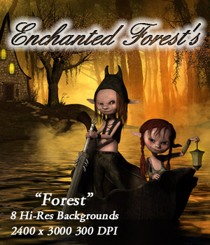 Enchanted Forest Backgrounds 2D Graphics ellearden