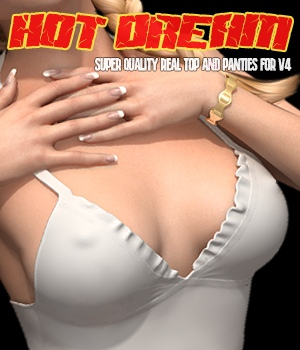 Hot Dream - Top and Panties for V4 3D Figure Assets hameleon