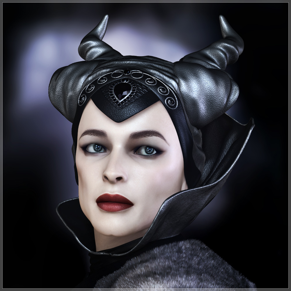 GCD - Fantasy Queen Head and Neck Pieces for V4