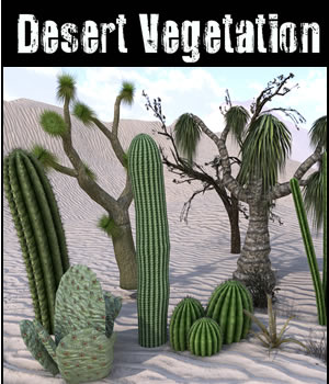 Desert Vegetation 3D Models dexsoft-games