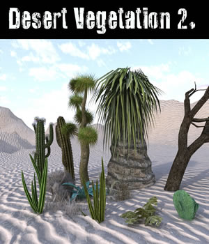 Desert Vegetation 2. 3D Models dexsoft-games