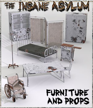 Insane Asylum 2: Furniture and Props 3D Models 3-d-c