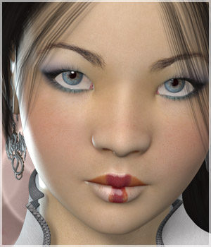 A3D Natsuko Asian Beauty for V4 3D Figure Assets alizea