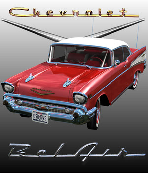 CHEVROLET BEL AIR HARD TOP 1957 3D Models 3DClassics