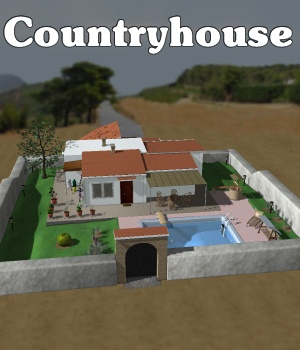 Everyday house - Countryhouse full - Extended License Gaming 3D Models greenpots