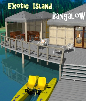 Exotic island - Bangalow - Extended License Gaming 3D Models 3D Figure Essentials greenpots