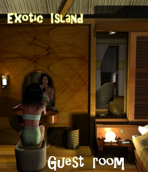 Exotic island - Guest room - Extended License 3D Figure Assets 3D Models Extended Licenses greenpots