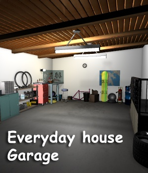 Everyday house - Garage - Extended License 3D Models Gaming greenpots