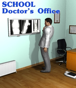 School Doctor's Office - Extended License 3D Figure Assets 3D Models Extended Licenses greenpots