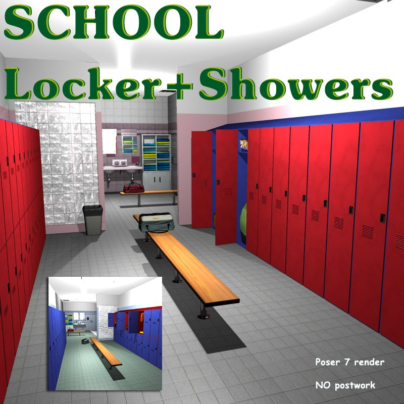SCHOOL Locker with Showers - Extended License