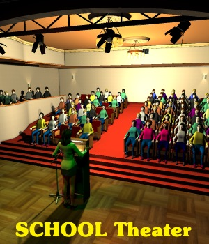 SCHOOL Theater - Extended License 3D Figure Essentials 3D Models Gaming greenpots
