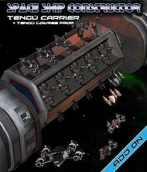 Space Ship Constructor Tengu Carrier 3D Models Simon-3D
