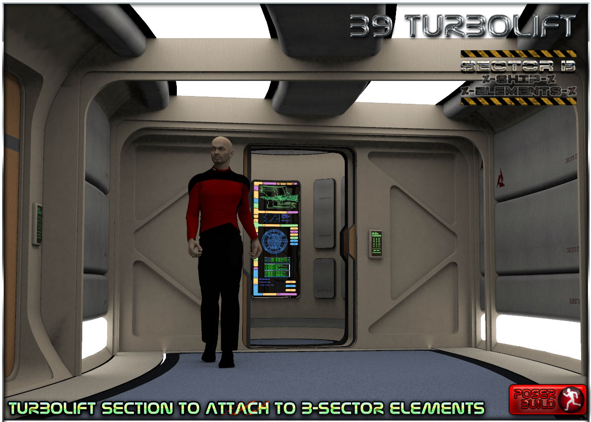 Ship Elements B9: Turboliftby3-d-c()