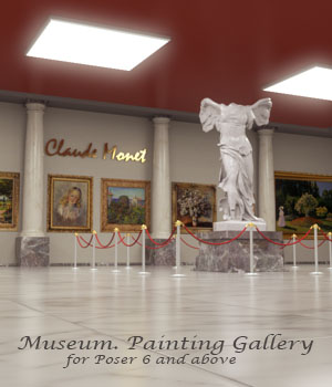 AJ Museum. Painting Gallery 3D Models -AppleJack-