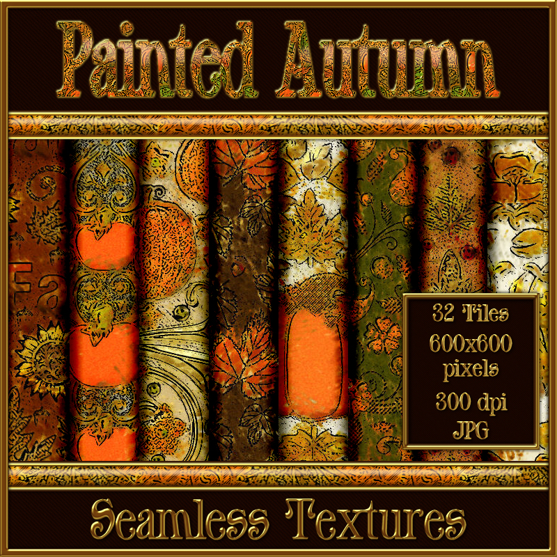 Painted Autumn Seamless Texture Pack
