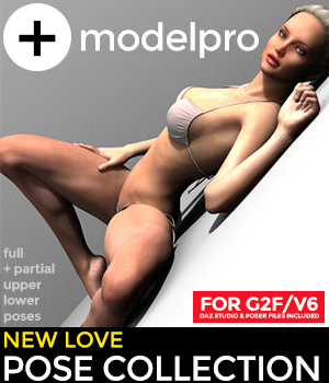 +newLOVE pose collection G2F/V6 3D Figure Essentials modelPRO