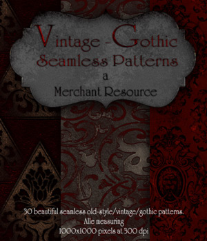 Merchant Resource - Vintage-Gothic Patterns 2D Graphics Merchant Resources antje