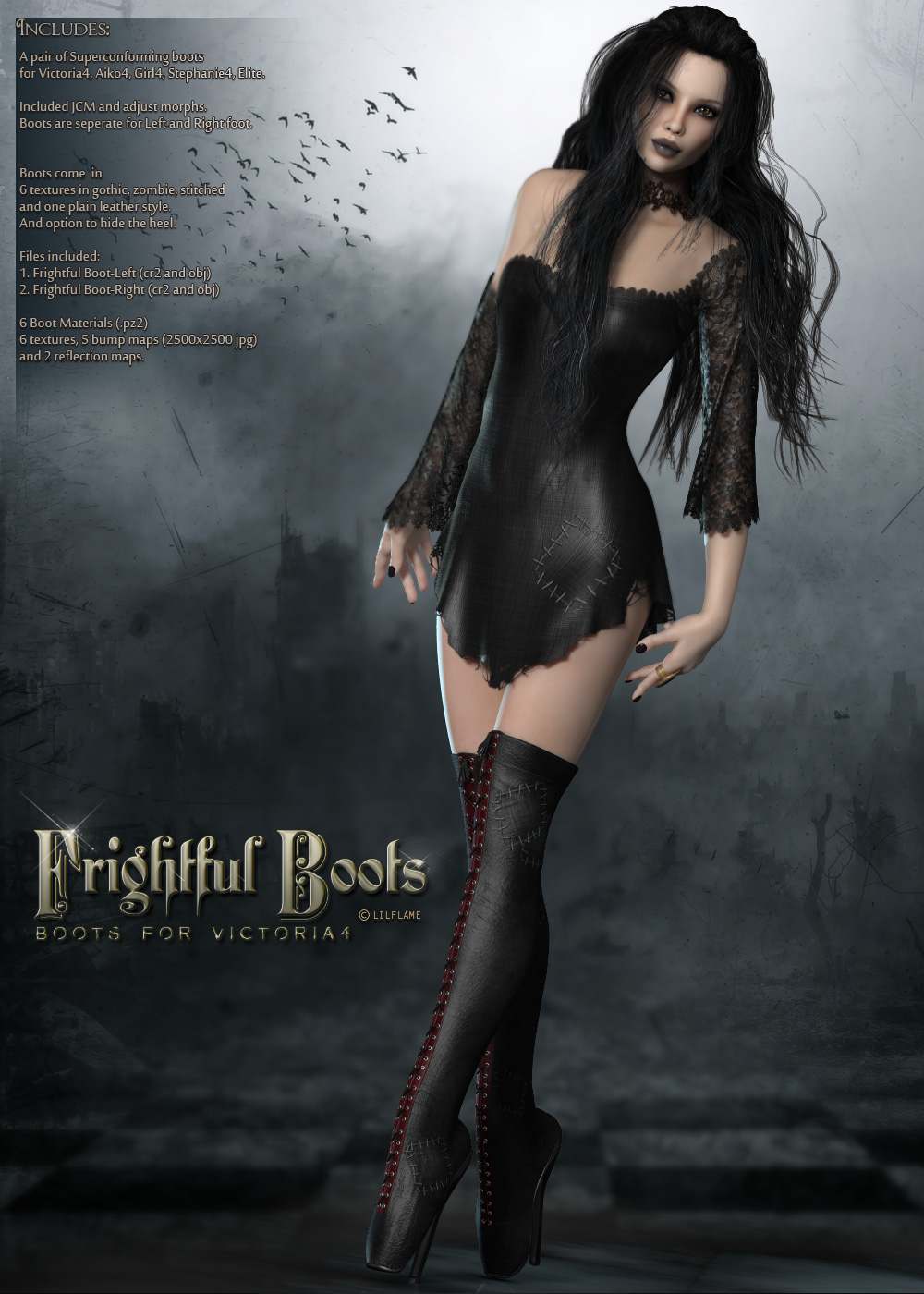 Frightful Boots V4/A4/G4 by lilflame