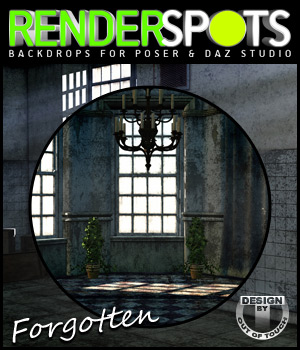 RenderSpots Forgotten Rooms for Poser and DAZ Studio Software 3D Models 2D outoftouch