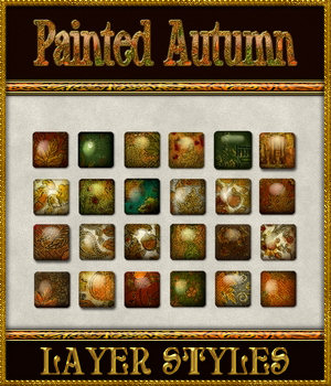 Painted Autumn Layer Styles 2D Graphics Merchant Resources fractalartist01