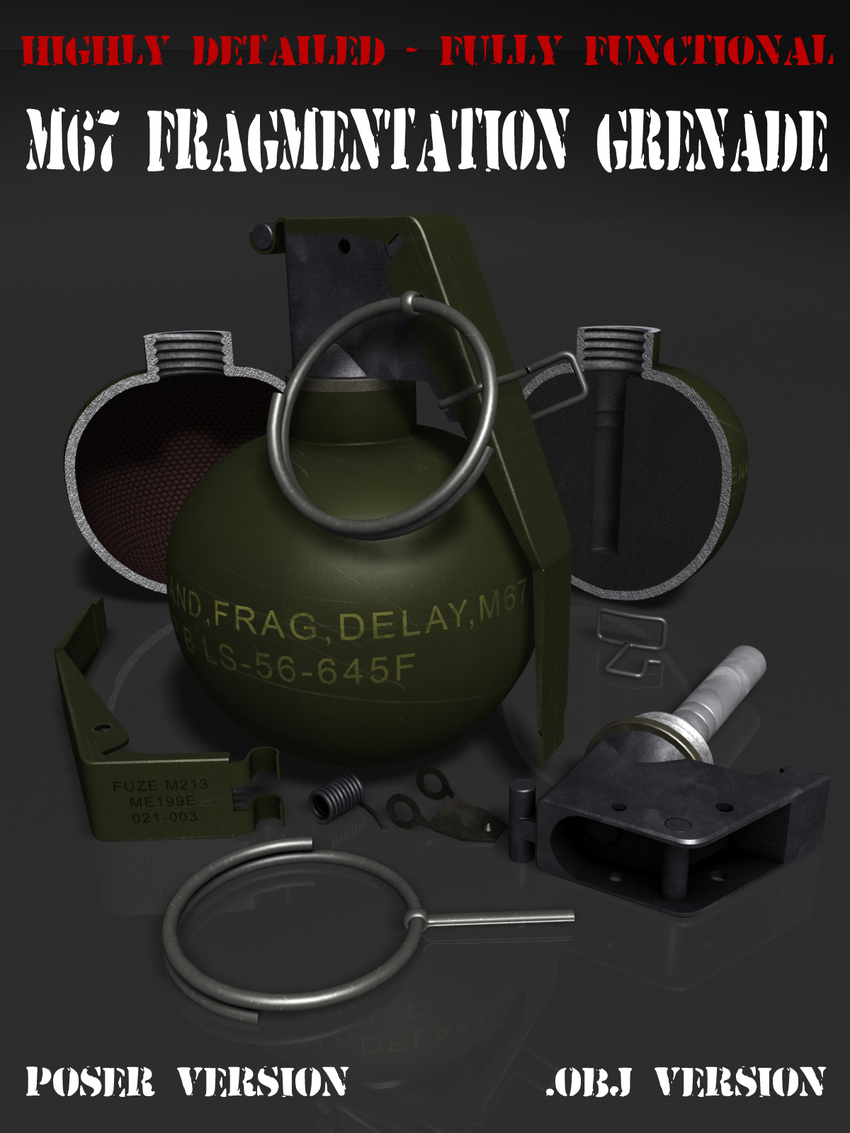 Detailed Hand Grenade