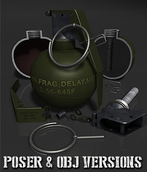 Detailed Hand Grenade 3D Models coflek-gnorg