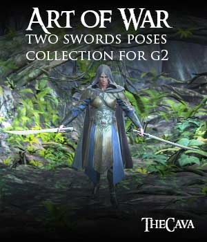 Art of War - The Ultimate 2Swords Poses for Genesis2 3D Figure Essentials Software TheCava
