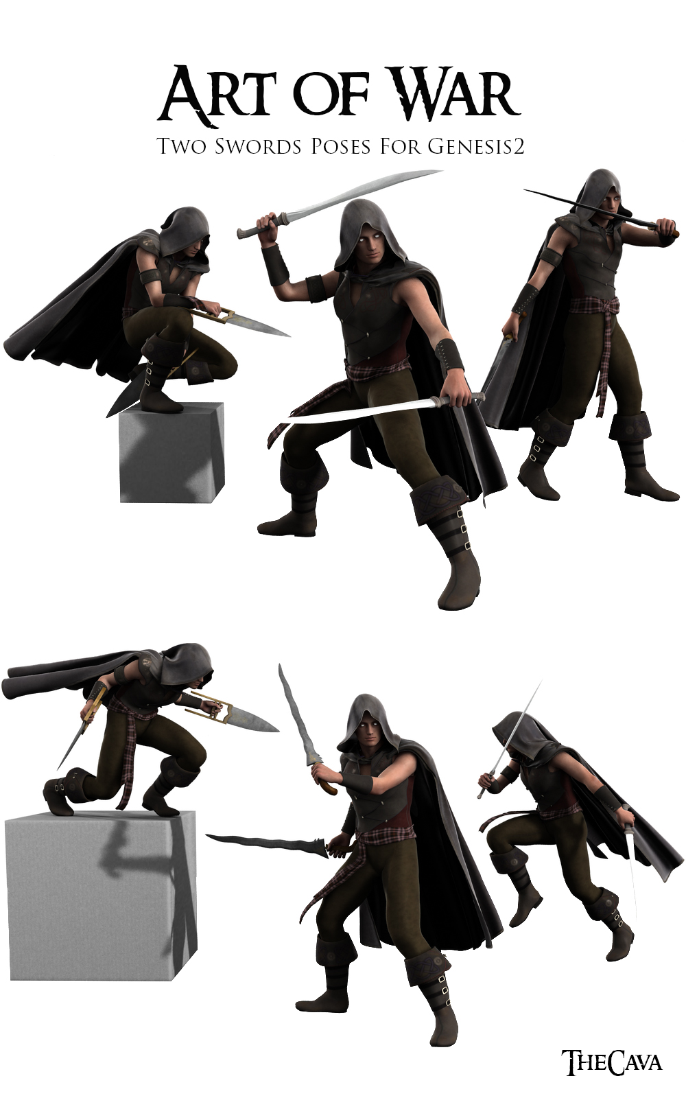 Art Of War The Ultimate 2swords Poses For Genesis2 3d Figure