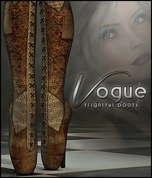 Vogue for Frightful Boots 3D Figure Assets Sveva