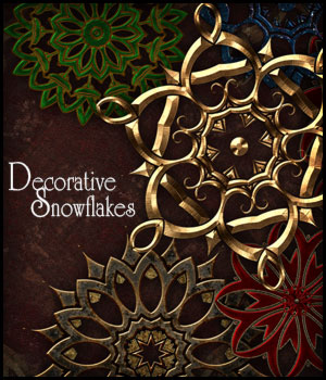 Decorative Snowflakes 2D Graphics Merchant Resources antje