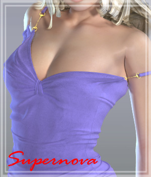 Butterfly dress 3D Figure Assets -supernova-