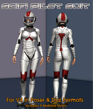 V4 SciFi Pilot 3D Figure Essentials 3D Models Simon-3D