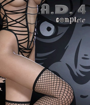 B.A.D.4 Complete - Bad Girl V & In Long Boots 3D Figure Assets nirvy