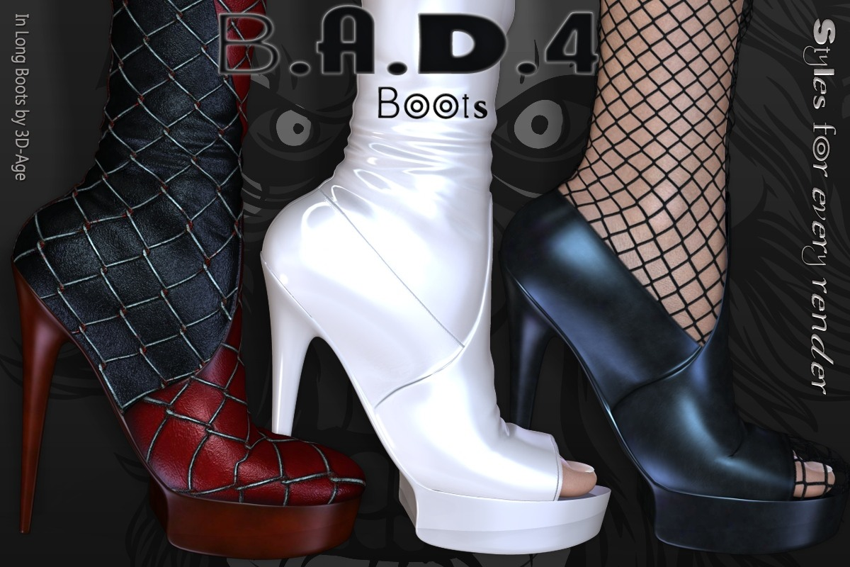 B.A.D.4 Boots -  In Long Bootsbynirvy()
