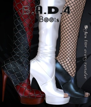 B.A.D.4 Boots -  In Long Boots 3D Figure Essentials nirvy